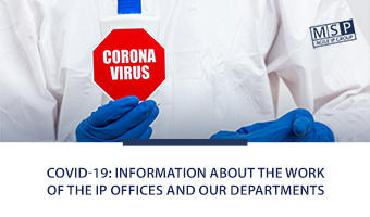 COVID-19: information about the work of the IP offices and our departments